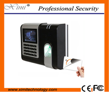 Buy TCP/IP time recorder business time attendance system fingerprint reader 5VDC 2A color screen ID biometric time attendance system for $140.00 in AliExpress store
