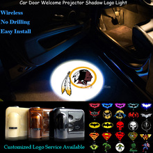 2x Washington Redskins Logo Wireless Senor Car Door Welcome Ghost Shadow Puddle Laser Projector Spotlight LED Light (NFL14)