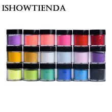 ISHOWTIENDA 18 Colors Acrylic Nail Art Tips UV Gel Powder Dust Design Decoration 3D DIY Decoration Set Manicure Professional(China)