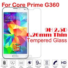 Cheap 0.26mm 2.5D 9H Hardness Tempered Temper Glass Phone Mobile Front Film Screen Protector For Samsung Galaxy Core Prime G360