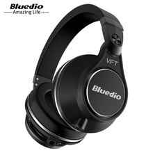 Original Bluedio UFO PLUS 3D bass bluetooth headset Patented 12 Drivers HiFi wireless headphones with microphone for music phone(China)