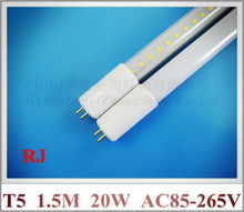 New arrival AC85-265V input T5 G5 LED tube light lamp fluorescent LED tube 1.5M 5ft 1500mm SMD2835 120led 20W 2400lm CE ROHS