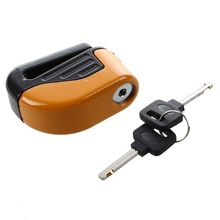 Blocked Disc Lock Alarm stainless steel universal motorcycle safety(China)