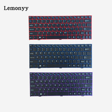 US NEW keyboard for CLEVO pavilion M1110 M11X M1100 M1110Q M1111 W110ER M1115 English laptop keyboard purple/Blue/Red border