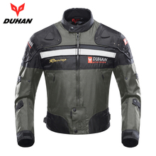 DUHAN Motorcycle Jacket Motocross Jacket Moto Men Windproof Cold-proof Clothing Motorbike Protective Gear for Winter Autumn(China)