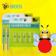 100 PCS/20boxes High Speed Diamond Burs Dental Materials Excellent Quality Bees Brand(China)