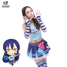 ROLECOS Japanese Anime Love Live Cosplay Costumes Tojo Nozomi Cheerleader Uniform Women Cosplay Costumes