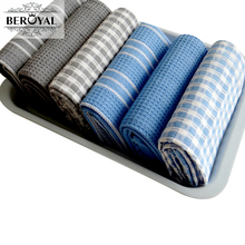 Beroyal Brand Kitchen Towel 45*65cm 3Piece/Lot Cotton Tea Towels Magic Washing Dish Towel Cleaning Cloth Scouring Pad Dishcloth(China)