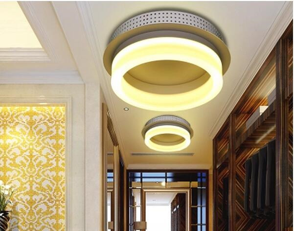 LED 6W-10W Acrylic creative porch hallway door wall lamp lights The corridor balcony to absorb dome light 220-240v   @-9<br><br>Aliexpress