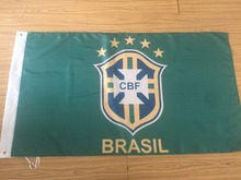 2014 World Cup Brazil National Soccer Team 3x5 Horizontal Flag, free shipping(China)