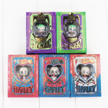 5pcs/lot Suicide Squad Harley Quinn Joker Pendant Keyring Keychain PVC Action Figure Model Toy Doll 3cm(China)