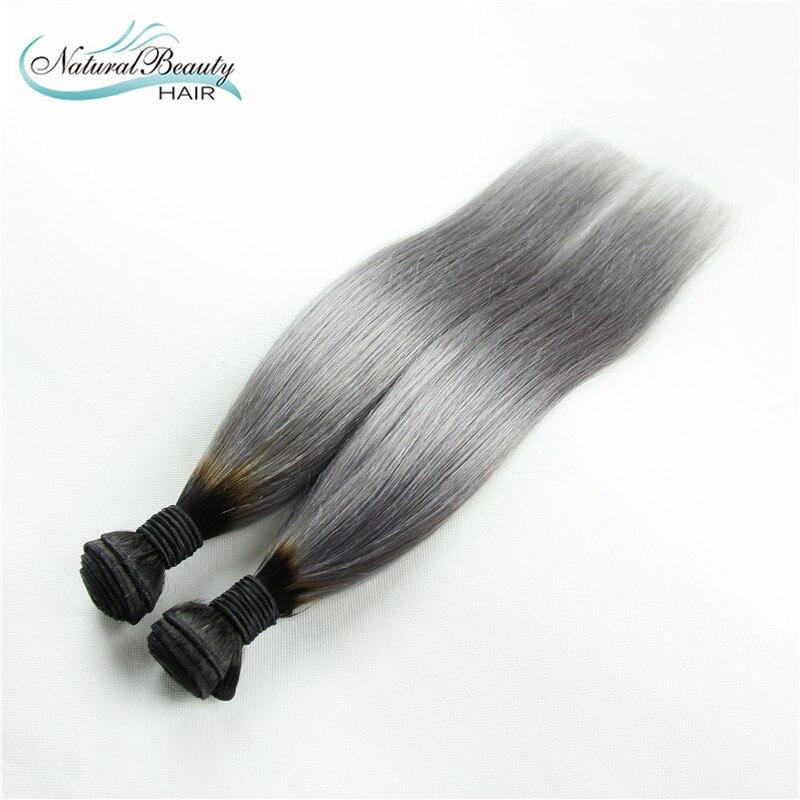 7A Brazilian Straight Virgin Hair Platinum Grey hair extension 2Pcs Human Hair Extensions Silver Grey Hair Weaves Fast Shipping<br><br>Aliexpress