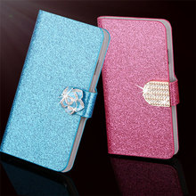 Glitter Leather Flip Cover For Samsung Galaxy Mini S5570 Dart T499 Case Luxury Vintage Bling Diamond Wallet Bag With Card Slot