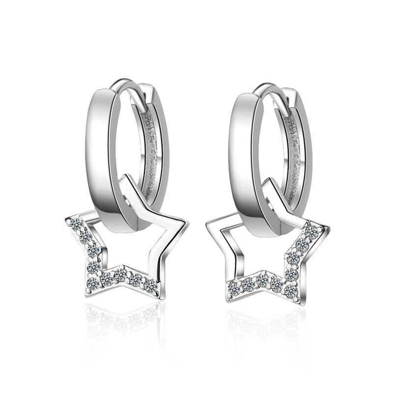 Crystal Simple Tassel Pentagram Star Tassel Star Earrings Women