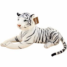 JESONN Realistic Stuffed Animals White Tigers Lifelike Plush Toys for Children's Birthday Gifts