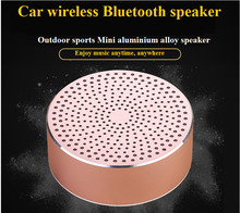 Wireless Bluetooth Mini Car Motorcycle Speaker Auto Metal Subwoofer Outdoor Sport Portable Bluetooth Loudspeaker Box Car-styling