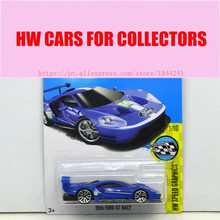 New Arrivals 2017 Hot Wheels 1:64 2016 Ford GT Race Metal Diecast Car Models Collection Kids Toys Vehicle For Children(China)