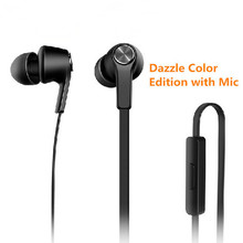 Piston 3 Earphone Basic Edition Microphone flat wire Stereo In-Ear Headsets with Mic for Xiaomi Mi RedMi Note 4 3 2 iOS MP3 PC