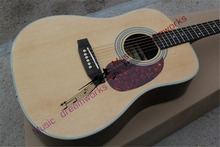 China OEM acoustic guitar, high quality, acoustic guitar natural ems free shipping(China)