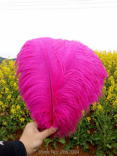 beautiful! 10 pieces of high quality 12-14 inch / 30-35 cm natural ostrich feathers, rose Red ostrich feather wedding ceremony