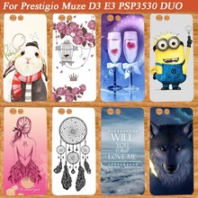 New Painted Case beautiful print design back case For Prestigio Muze D3 E3 PSP3530 DIY Colored Phone Cover For Prestigio Muze D3(China)