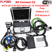 NEW Full Chip MB STAR C5 with 2017.09 Software Vediamo DTS with Laptop CF19 Diagnostic PC MB SD Connect C5 Full Set Ready To Use(China)