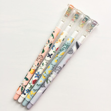 Z47 3X Colorful Diamond Head Floral Garden Gel Pen School Office Supply Stationery Writing Signing Pen Kids Student Gift 0.38mm(China)