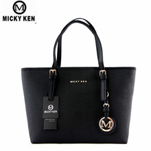 MICKY KEN Brand new 2017 women handbags big pu leather high quality letter female bag designer bolsos mujer sac a main totes(China)