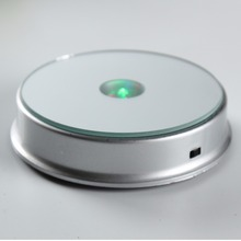 Multicolor 100mm Large Round LED Plastic Light Base/Stand for jewelry, watch, gifts, 2d/3d laser crystal display