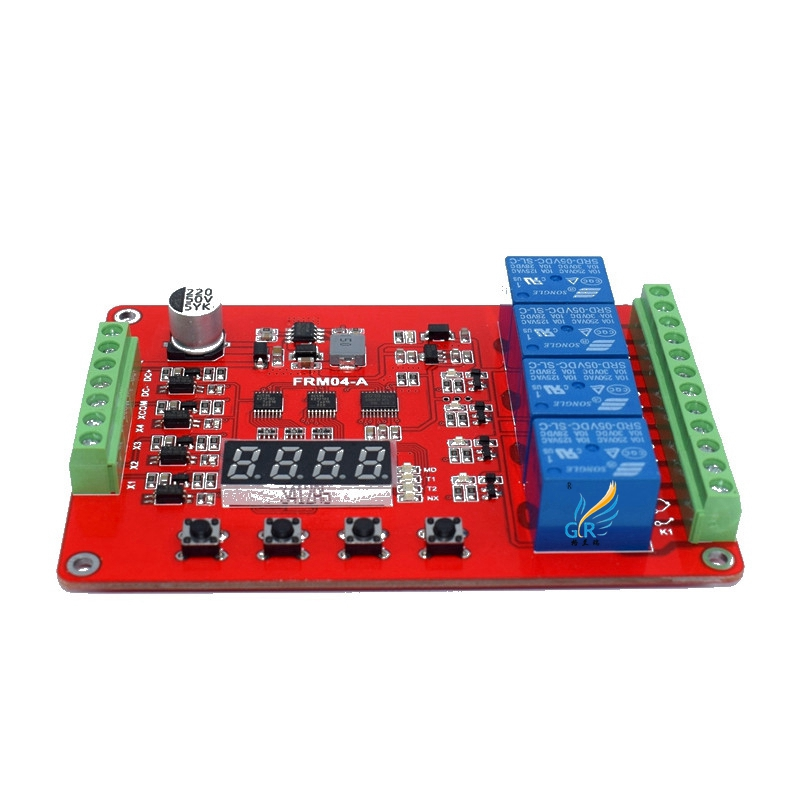 FRM04 Relay Module / Cycle / Delay / Timer / Self-locking / Module /18 Function Optional<br>
