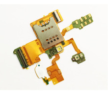 Original New Micro Sim Card Holder Reader Slot Connector Flex Cable Ribbon For Sony Ericsson Xperia Ray ST18i ST18(China)