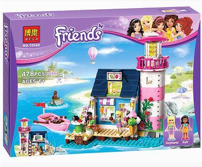 New Bela 10540 Toy building blocks friends Heartlake Lighthouse boat model girl set Kits 41094 bricks gift 478pcs <br><br>Aliexpress