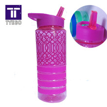 Water Bottle 700ml flip Straw sports Plastic bottle Portable Handle Bike Tumbler Drinking bottle BPA FREE(China)