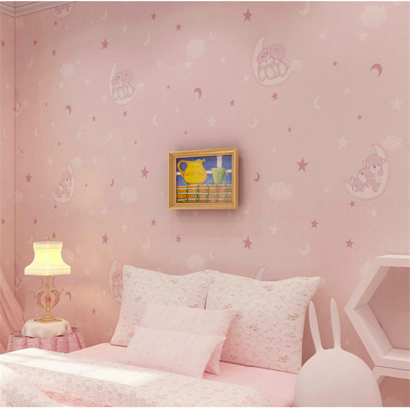 beibehang desktop wallpaper Childrens room wallpapers bedroom living room wall paper roll TV background home decoration <br>