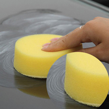 BU-Bauty Wax sponges Round Car Polish Sponge Car Wax Foam Sponges Applicator Pads for Clean Car Care Tool Glass Yellow ME3L(China)