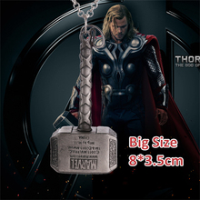 Big Size thor 2 the dark world necklace vintage antique silver thor hammer pendant Mjolnir Marvel The Avengers jewelry wholesale