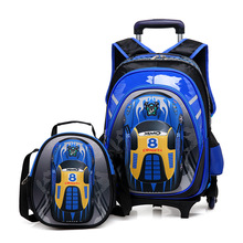 2017 Boys Trolley Children School Bags Classic Travel Bag On Wheels Kids Rolling Orthopedic Schoolbag Backpack Girl Book Bags Sa