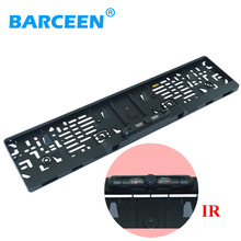 EU Car License Plate Frame Rear View Camera with Waterproof 4 IR Light Night Vision 170 Degree Viewing Angle for European Cars