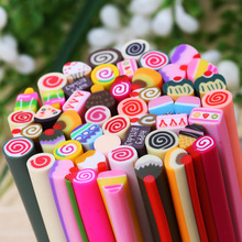 50 Rods Polymer Clay Nail Art Decorations Cakes Series Candy Sweet Color Letters 3d Manicure Children Kid Toys Multi Use Sticker