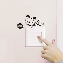 DIY Cartoon Switch Sticker Puppy Dog Laptop Sticker Creative Decorative Wall Stickers For Kids Rooms Home Decoration Accessories
