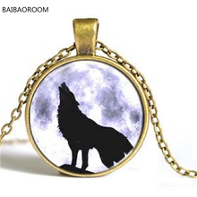 Moon Star necklace time gem Wolf Totem series short men's Necklace trade jewelry wholesale