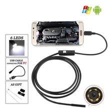 1M 5.5mm Endoscope Camera Waterproof 6 LED Borescope Inspection Camera USB Android Endoscope