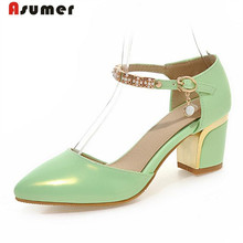 Buy Asumer 2017 New arrive women pumps pointed toe buckle high heels shoes big size 33-43 summer shoes party elegant sweet for $26.00 in AliExpress store
