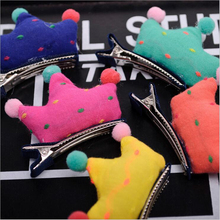Hot Sale 5 PCS/Lot 5 Pattern Pet Dog Grooming Accessories Products Lovely Candy Crown Dog Hair Bows With Clips For Dog and Cat