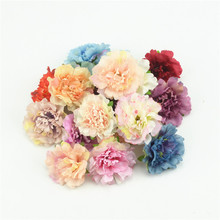 10pcs 4.5cm Cheap Artificial Silk Flowers European Fall Vivid Peony Fake Leaf Wedding Home Party Decoration Peony Chrismas Gift