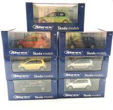 ABREX 1/43 Scale Car Model Toys Gemany SKIODA CITIGO Diecast Metal Car Model Toy New In Box For Kids/Gift/Collection(China)