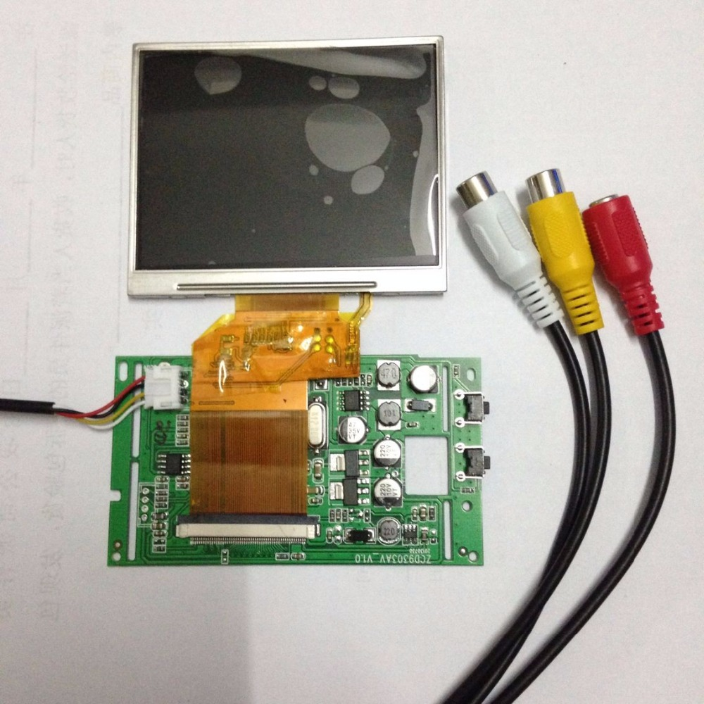 original new free shipping 3.5  inch LCD screen LQ035NC111 driver board DIY finder projection monitoring car accessories<br>