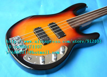 free shipping wholesale and retail new fretless electric bass guitar with mahogany body wilk-son pickup F-1407+foam box