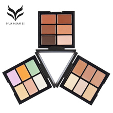 HUAMIANLI BAND Natural Professional Concealer 6 Colors Contour Palette Makeup Foundation Base Face Cream Cosmetic Make Up(China)