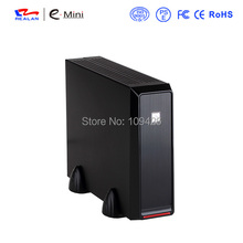 Realan Emini - 2019, Silver Mini-ITX Box With 4010 Fan And 12V 5A AC Power Adapter, Mini PC Case